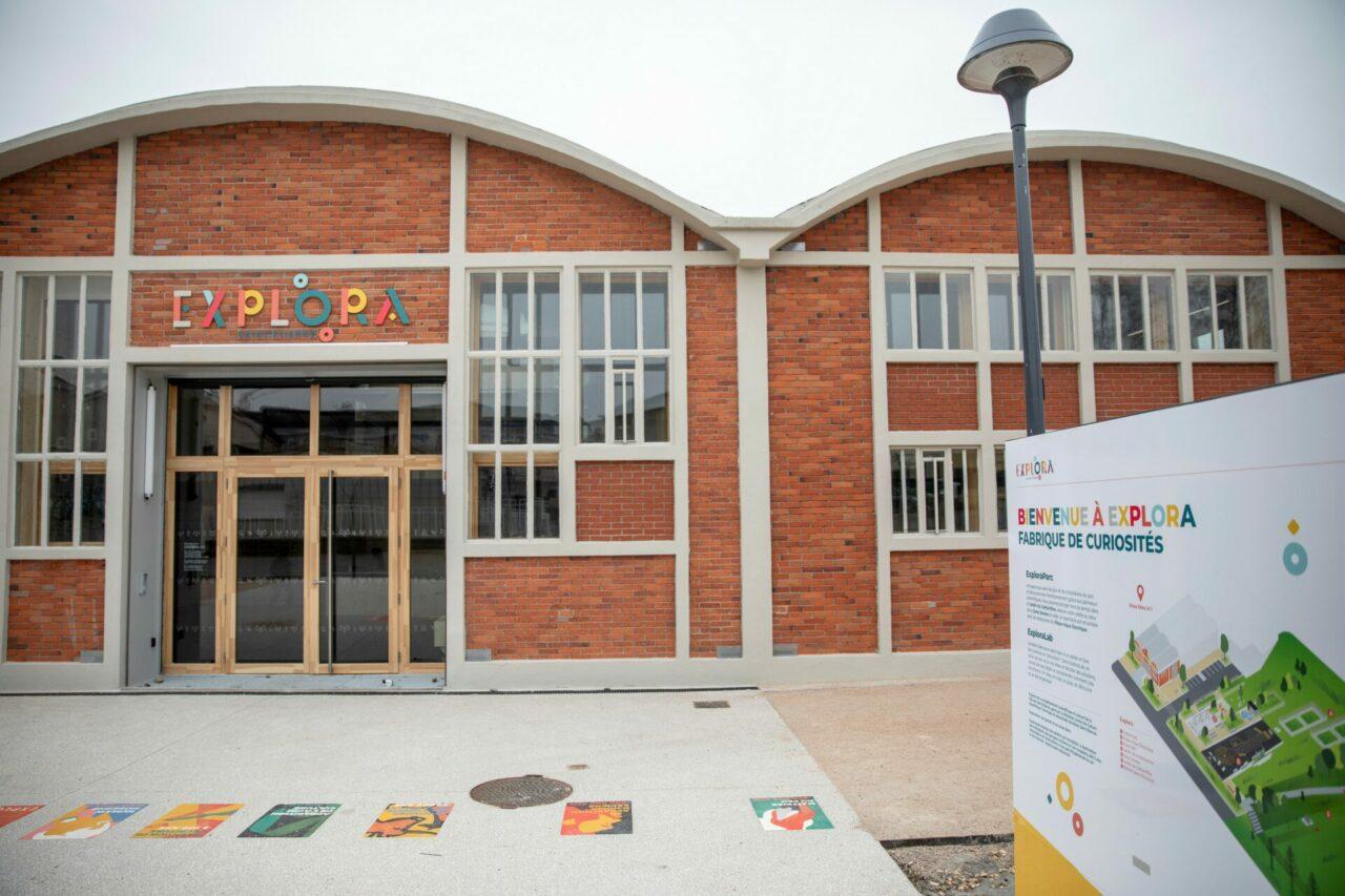 Façade et entrée du bâtiment d'Explora : ExploraLab